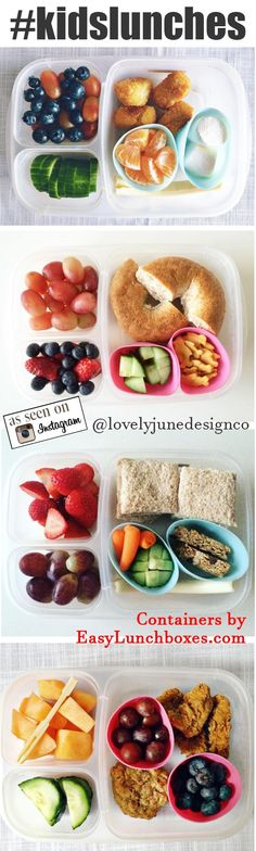 #kidslunches packed in #easylunchboxes CLICK for more ...