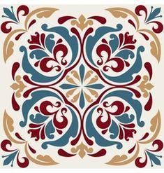 Tile Patterns, Textures Patterns, Rice Paper Decoupage, Foto Transfer, Floral Pattern Vector, Arabic Pattern, Silk Art, Oriental Pattern, Color Pencil Art