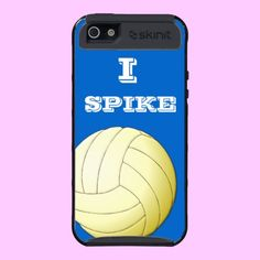I SPIKE VOLLEYBALL SKINIT CASE IPHONE5 #volleyball #spike #sports #women #phonecases #iPhone5 #cool