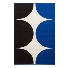 Outdoor Rug 5'x7' - Harka Print - Blue - Marimekko for Target