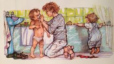 'Alfie Gives a Hand' by Shirley Hughes. My two sons loved the Alfie and Annie Rose stories in the Shirley Hughes, Children's Book Illustration, Book Illustrations, Invisible Children, Annie Rose, Son Love, Heart Art, Vintage Images, Childrens Books