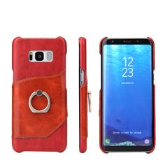 New 3 Colors for Samsung Galaxy S8 Genuine Leather Oil Wax Cow Skin Phone Cover for Samsung S8 Plus With Finger Ring Stand #Affiliate