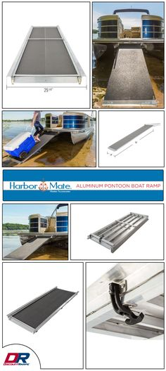 Load your pontoon boat safely and easily with the Harbor Mate Aluminum Pontoon Boat Ramp. This ramp makes accessing docks, floats or the beach safe and easy for all your passengers - including pets! Made from lightweight, rust-proof aluminum this ramp easily stores under the deck of your boat and slides out when needed. The high-traction grit coat surface makes this ramp safe for adults, children and pets to use, even when wet.