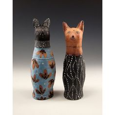 Cat Salt and Pepper Shakers by Jenny Mendes by jennymendes on Etsy