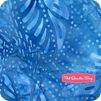Reef Tonga Batiks Blue Woven Leaves Yardage SKU# B2009-BLUE