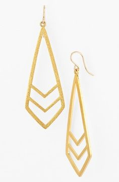 Dogeared 'Be Your Own Kind of Beautiful' Boxed Chevron Drop Earrings