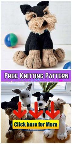 58809b50a Knit Amigurumi Dog Toy Sofites Free Knitting Patterns 👈  knitting Knit  Amigurumi Dog Toy Sofites