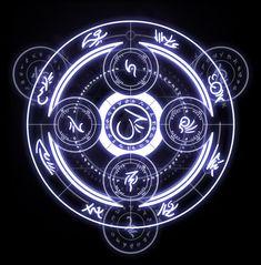 Arcanum Sigil by AenTheArtist on DeviantArt Magic Symbols, Ancient Symbols, Viking Symbols, Egyptian Symbols, Viking Runes, Arcane Mage, Magic Circle Crochet, Spell Circle, Summoning Circle