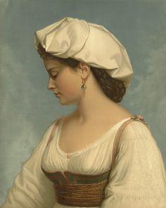 """""""The Italian Beauty"""" by Wolfgang Boehm, 1874"""