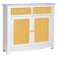 Sideboard with a splash of yellow