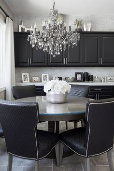 At Home With Flip Or Flop's Christina El Moussa Love the tile ABOVE the cabinets!