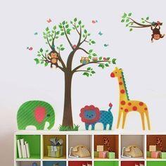 Walplus - Autocollant Décoration Mural Décalque Papier Art Animaux Arbre Arbre Couleurs Chambre D'Enfant Walplus http://www.amazon.fr/dp/B00H2NCMYK/ref=cm_sw_r_pi_dp_LwsUtb0644CTZXF5