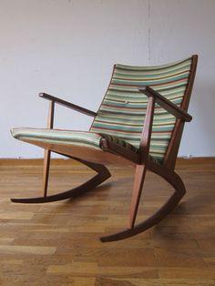 60er ole wanscher teak schaukelstuhl france son 60s for Schaukelstuhl skandinavisches design