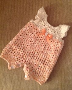 Crochet infant romper