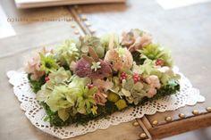 新郎新婦様からのメール 星のうさぎの庭園セット リングピロー プリザーブド