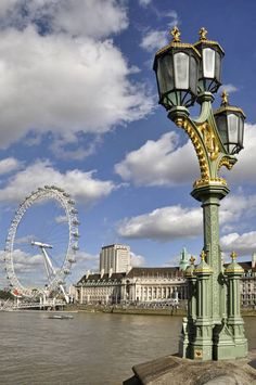 From Westminster Bridge, the London Eye