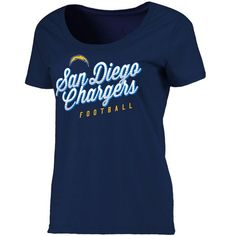 San Diego Chargers NFL Pro Line Women's Plus Size Edgewood Scoop Neck T-Shirt - Navy - $29.99
