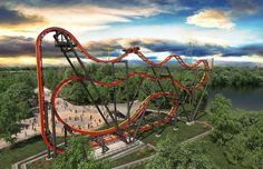 Total Mayhem free spinning roller coaster coming to New Jersey's Six Flags Great Adventure in 2016
