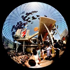 Fisheye image of the American Pavilion at Expo 67
