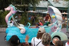 Ariel the Little Mermaid in the Stars & Motor Cars parade at Disney's Hollywood Studios in September 2006 and this parade has been retired on Saturday 8th March 2008.