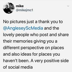 Possibly the nicest recommendation Ive had for my Socialmedia pages #anglesey Anglesey, Different Perspectives, Positivity, Social Media, Memories, Memoirs, Souvenirs, Social Networks, Remember This