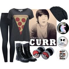 """""""messy hair don't care"""" damon fizzy outfit? idk"""