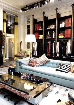 Dries van Noten boutique * Interiors Interiors * The Inner Interiorista Dressing Room Closet, Dressing Rooms, Luxury Closet, Dream Closets, Closet Designs, My Living Room, My New Room, Retail Design, House Rooms