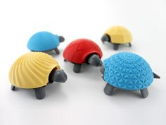 group patterns 3d printed squishy turtle nature animal toy kids project design colorful