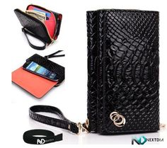 DROID RAZR M Black Croc Uptown Wallet Cellphone Carrying Case with Separate Compartment for ID, Cash and Credit Cards + NextDia ™ Velcro Cable Wrap by Kroo. $27.99. DROID RAZR M Shiny EPI Leather Wallet Case Cover Allow yourself to manage your cellphone, ID and credit cards with this cellphone wallet case.. Magnetic closure that gives your cellphone a secure fit and be carried anywhere you go while featuring extra compartment to store your ID, credit cards. Prote...