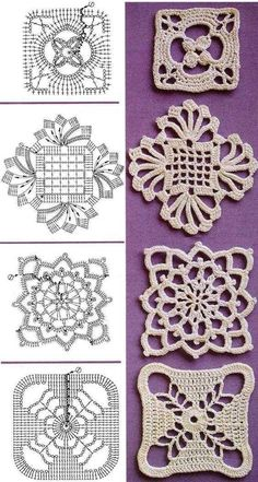 Transcendent Crochet a Solid Granny Square Ideas. Inconceivable Crochet a Solid Granny Square Ideas. Filet Crochet, Crochet Diagram, Thread Crochet, Crochet Doilies, Crochet Flowers, Irish Crochet Charts, Knitting Charts, Loom Knitting, Free Knitting
