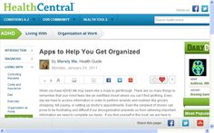 Apps to Help You Get Organized - Medical records, Work and Home - by my favorite Health Central Blogger- Merely Me