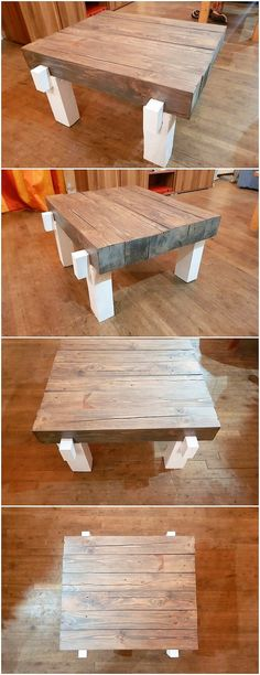 Check out this interestingly designed table creation for your house use ! Isn't it looking so amazing and lovely? Here the wood pallet table has been all set aside with the modern work of the designing framing where you will view the imaginative stylish designs being part of it.