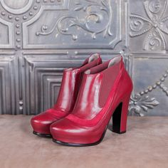 WAVES - red calf lather  #altiebassi #autumn #winter #italianshoes