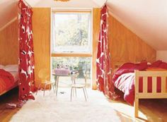 Curtains as bed/room divider