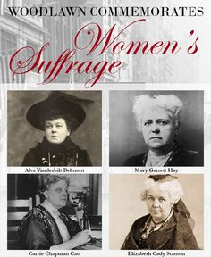 Learn about the women who led the charge to gain passage for the 19th Amendment. Experience history and honor our heroines at The Woodlawn Cemetery!