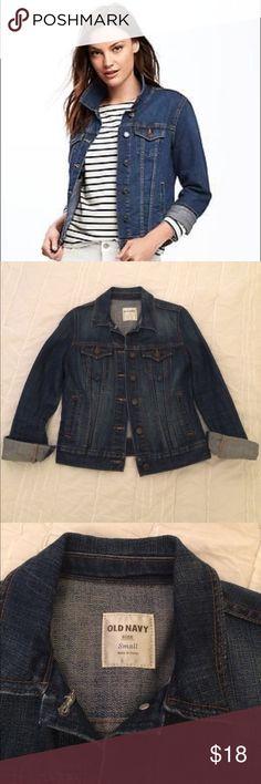 Old Navy Jean Jacket Old Navy Denim Jacket. Dark denim. Size Small. Excellent Condition. Worn a couple of times. Old Navy Jackets & Coats Jean Jackets