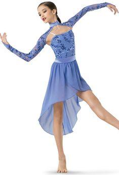 Weissman®   Sequin & Mesh Dress with Shrug #danceoutfits