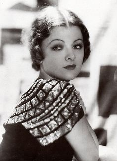Myrna Loy, 1936 by thefoxling, via Flickr