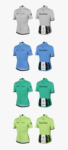 ff3143417db41f Men January-April 2014 Gran Fondo Challenge Jerseys