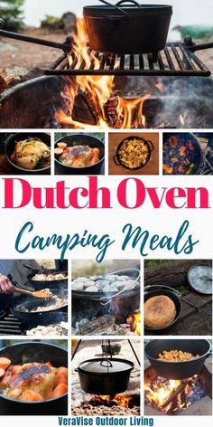 Camp Oven Recipes, Campfire Dutch Oven Recipes, Dutch Oven Camping, Campfire Food, Camping Recipes, Camping Ideas, Camping Hacks, Dutch Oven Meals, Camping Foods