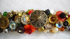 Tutti Fruiti Vintage Button Bracelet by BeMineForever on Etsy, $85.00  more buttons