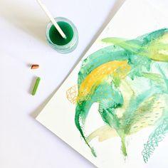 """37 mentions J'aime, 1 commentaires - N A T A C H A C A R R I E R (@natachacarrier) sur Instagram: """"P a i n t i n g Aquarelle et craie sèche, format A4... - - - #painting #art #instaart #artist…"""""""