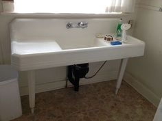 Vintage cast iron farmhouse sink