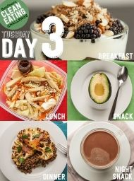 Day 3 Of The Clean Eating Challenge This is part of a two-week detox plan that will make you feel great. Don't jump into the middle — start at the beginning here. Healthy Life, Healthy Snacks, Healthy Living, Healthy Recipes, Eat Healthy, Diet Recipes, Advocare Recipes, Candida Recipes, Healthy Cooking