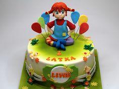 Pippi Longstocking - Birthday Cake in London Cupcakes Delivered, Cake Land, Matilda, London Cake, Pippi Longstocking, Torte Cake, Sugar Paste, Gorgeous Cakes, Pepsi