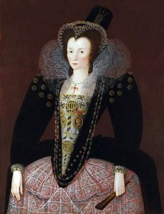 Dorothy, Lady Dormer by Marcus Gheeraerts the Younger,  c. 1596