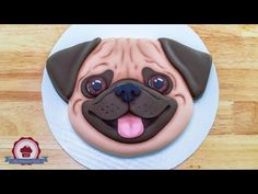 Check out this cute little Pug Cake tutorial, with his big brown fondant eyes and pink tongue. Pug Birthday Cake, Birthday Party Themes, Fondant Figures, Pug Cake, Small Pug, Cake Lifter, Fondant Cake Tutorial, Cute Pugs, Happy Birthday Images