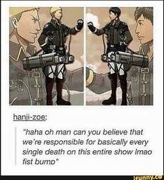 The Otaku Files: Meme Book: Attack On Titan (Shingeki no Kyojin) Reiner and Bert fist bump Armin, Levi X Eren, Aot Memes, Funny Memes, Aot Funny, Grisha Jaeger, Mega Anime, Titan Shifter, Attack On Titan Meme