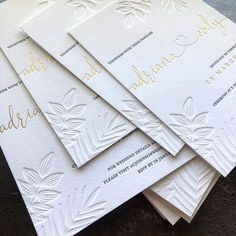 Bespoke beauties for Adriana & Cody featuring all the pretties including blind deboss, hot gold foil and black letterpress on thick cotton… Polka Dot Paper, Polka Dots, Letterpress Wedding Invitations, Wedding Details, Wedding Ideas, Gold Foil, Rsvp, Blinds, Stationery