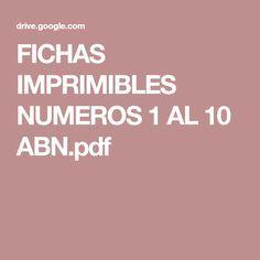 FICHAS IMPRIMIBLES NUMEROS 1 AL 10 ABN.pdf Sierra, Unity, Autism